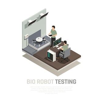 Bio robot testing composition isométrique