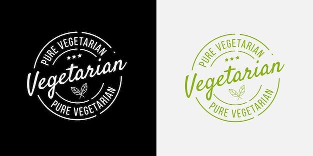 Bio végétarien pur, écologie, badges de logo bio.