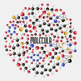 Biologie, médecine scientifique, recherche moléculaire, composition de concept d'adn