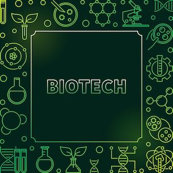 Biotech cadre contour coloré ou illustration