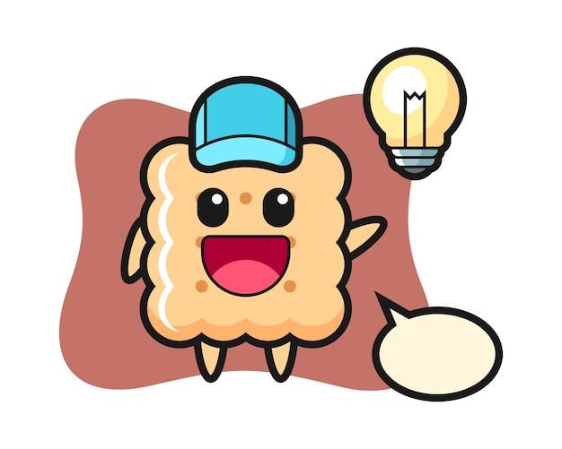 Biscuit de dessin animé au design plat