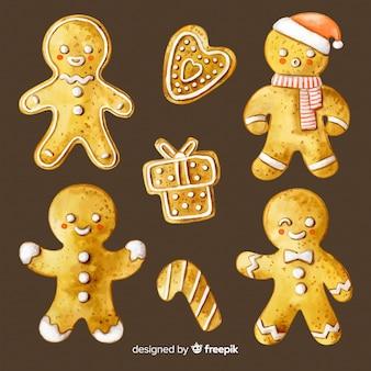 Biscuits au pain d'épice dessinés à la main