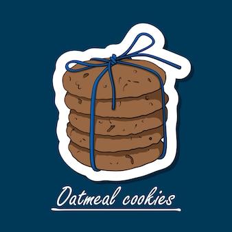 Biscuits à l'avoine dessinés à la main