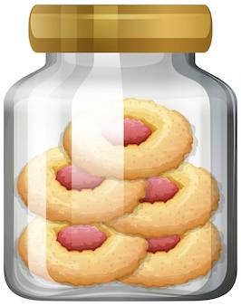 Biscuits dans le bocal en verre