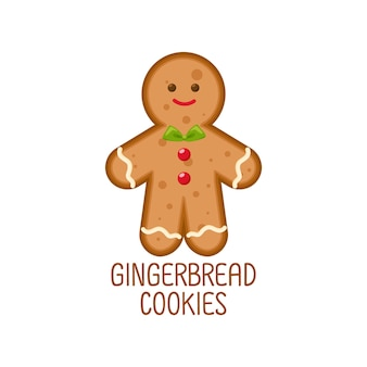 Biscuits de pain d'épice mignon concept de Noël pour Noël.
