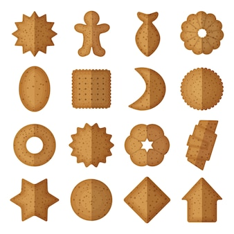 Biscuits de différentes formes.
