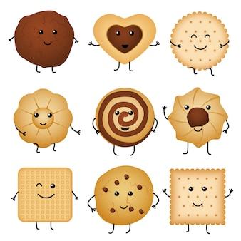 Biscuits drôles de dessin animé mignon