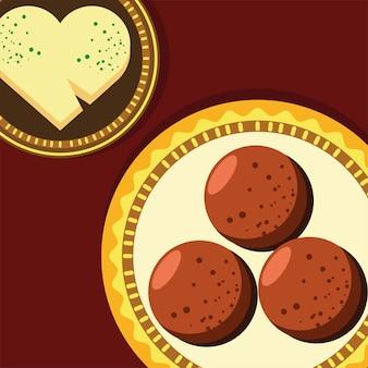 Biscuits et fromage sur plat