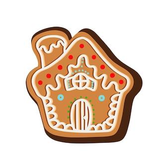 Biscuits de noël au gingembre en forme de maison