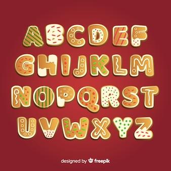 Biscuits de pain d'épice alphabet de biscuits de pain d'épice