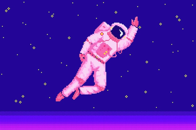 Bit d'astronaute astronaute pixel art