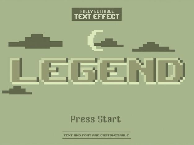Un bit pixel art jeu effet de texte monochrome