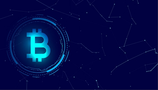 Bitcoin blockchain pièce numérique crypto monnaie concept fond