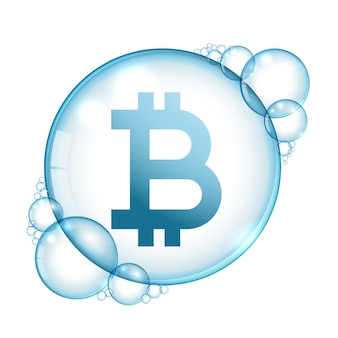 Bitcoin bulle cryptocurrency burst concept background