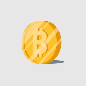 Bitcoin crypto-monnaie électronique symbole vecteur