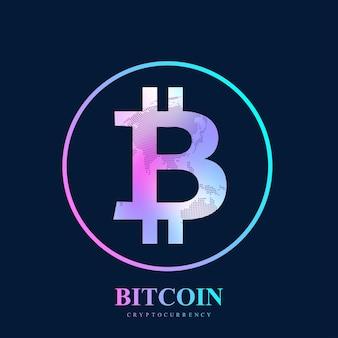 Bitcoin. pièce de monnaie physique. la pièce de monnaie numérique bitcoin endommage le système financier mondial.