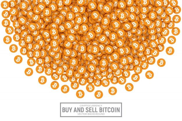 Bitcoin vector abstract illustration conceptuelle