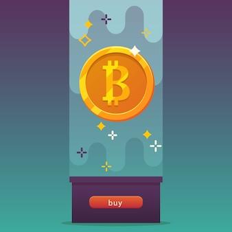 Bitcoins, icône de la pièce.
