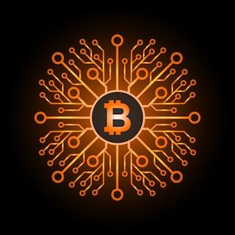 Bitcoins icône plate pour infographie.