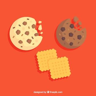 Bitten biscuit au chocolat