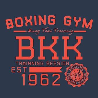 Bkk boxe typographique pour t-shirt