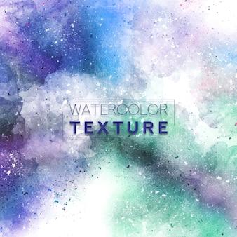 Bkue aquarelle texture avec des éclaboussures vertes