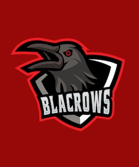 Black crow e sports logo