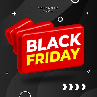 Black friday 3d forme rouge vecto