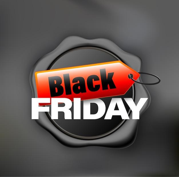 Black friday banner cire noir