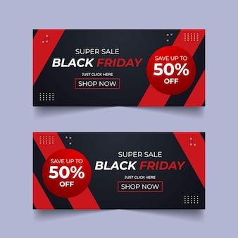 Black friday banner design black friday bundle set offre promotion vente bannière web banner