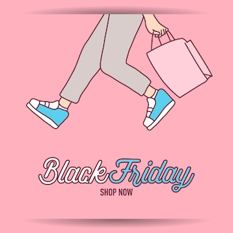 Black friday banner super sale discount shop à la maison maintenant