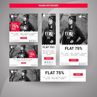 Black friday banners pour le marketing numérique