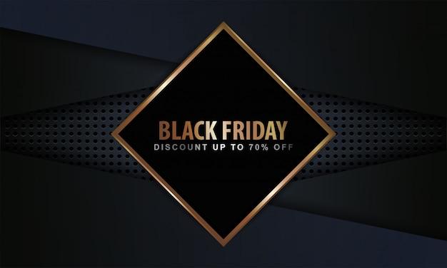 Black friday bannière avec un style moderne et de luxe.