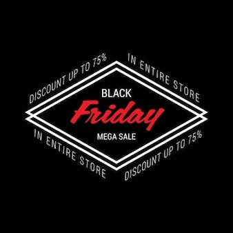 Black friday conception d'étiquettes isométrique