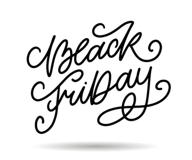 Black friday dessins calligraphiques éléments style rétro ornements vintage vente