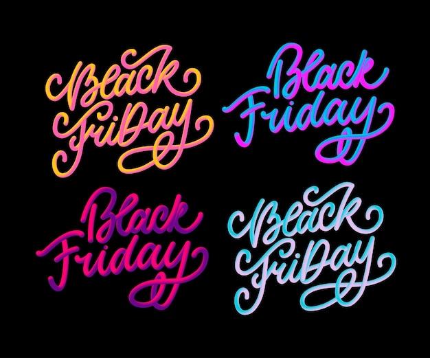 Black friday dessins calligraphiques style rétro
