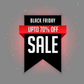 Black friday étiquette de vente avec les détails de l'offre