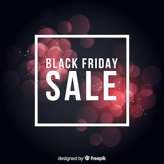 Black friday flou fond de lumières