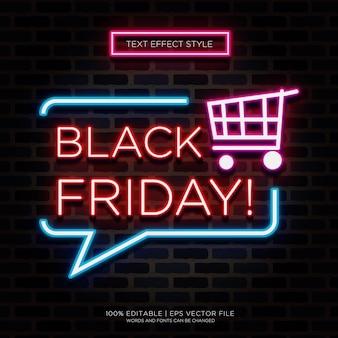 Black friday magasinez les effets de texte neon
