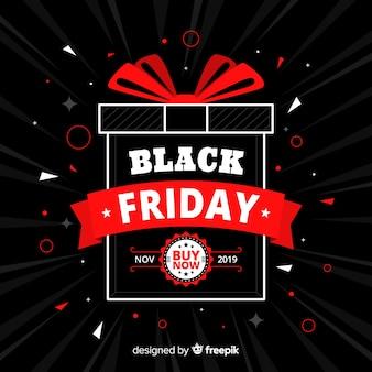 Black friday offre en design plat