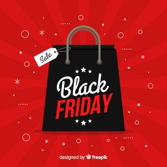 Black friday offre en design plat