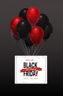 Black friday offre spéciale bannière de vente