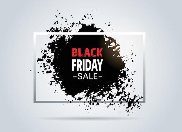 Black friday offre spéciale super bannière de vente