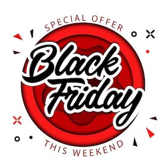 Black friday, offre spéciale uniquement ce week-end, super vente sur black friday concept