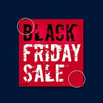 Black friday offre une vente à rabais design créatif