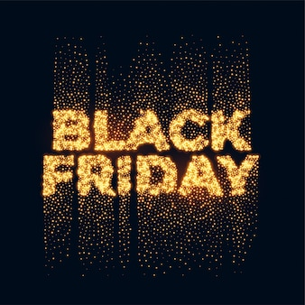 Black friday, paillettes d'or