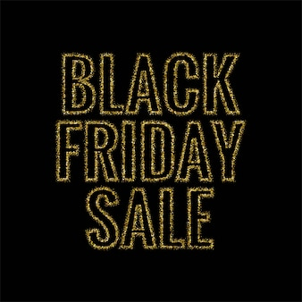 Black friday paillettes vecteur de conception de texte