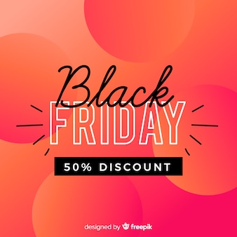 Black friday réduction sur fond rose dégradé