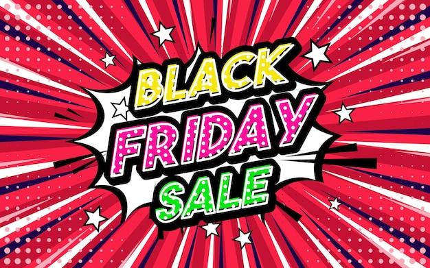 Black friday sale expression de style pop art style comique