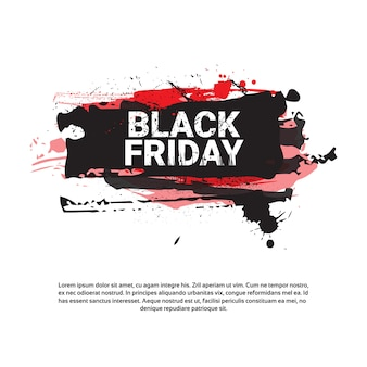 Black friday square flyer - bannière: grande vente de vacances